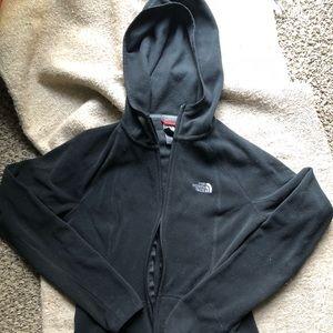 North face light fleece zip up jacket